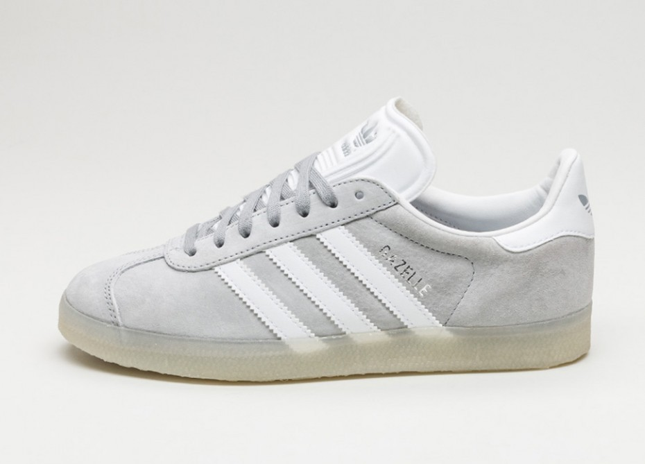 abb0559f Женские кроссовки adidas Gazelle (Mid Grey / White / Metallic Silver) |  Интернет-