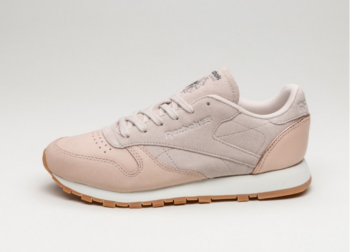 Женские кроссовки Reebok Classic Leather *Golden Neutrals* (Sandtrap / Rose Gold / Chalk / Lead - Gum) - Women - Sneaker   Интернет-магазин Sole
