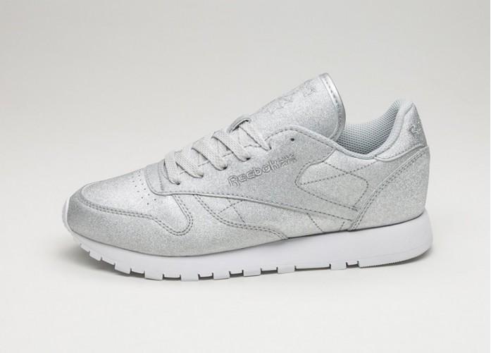 Женские кроссовки Reebok Classic Leather SYN *Diamond* (Diamond - Silver Metallic / Snow Grey / White) - Women - Sneaker   Интернет-магазин Sole