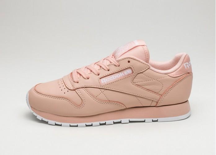 Женские кроссовки Reebok Classic Leather PJ (Rose Cloud / White) - Women - Sneaker | Интернет-магазин Sole