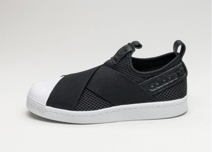 Женские кроссовки adidas Superstar Slip On W (Core Black   Core Black    Ftwr White 12c4d12a41442