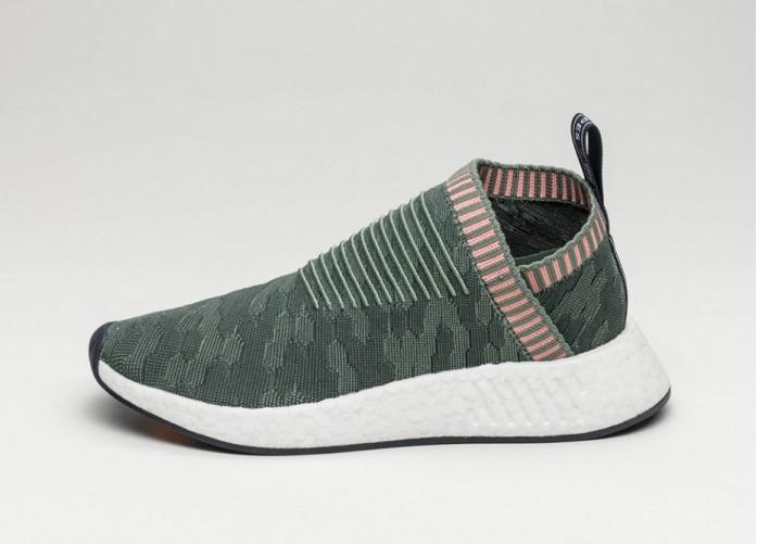 Женские кроссовки adidas NMD CS2 City Sock PK W (Trace Green / Trace Green / Trace Pink) - Women - Sneaker | Интернет-магазин Sole