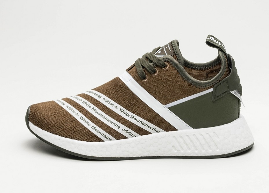 83eef02c3 Женские кроссовки adidas x White Mountaineering NMD R2 PK (Trace Olive    Ftwr White