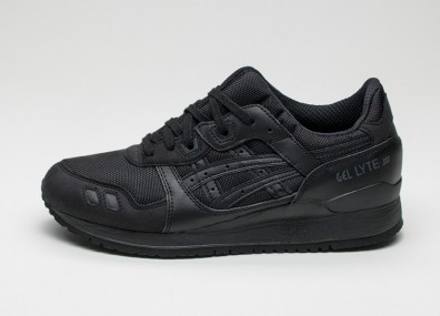 Мужские кроссовки Asics Gel-Lyte III *Monochrome* Pack (Black / Black)