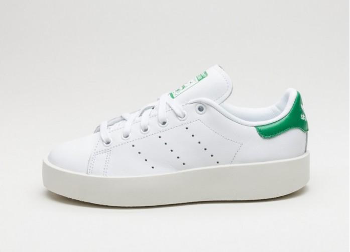 Женские кроссовки adidas Stan Smith Bold W (Ftwr White / Ftwr White / Green) | Интернет-магазин Sole