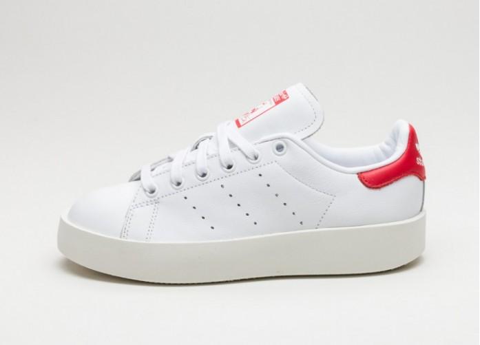 Женские кроссовки adidas Stan Smith Bold W (Ftwr White / Ftwr White / Collegiate Red) | Интернет-магазин Sole