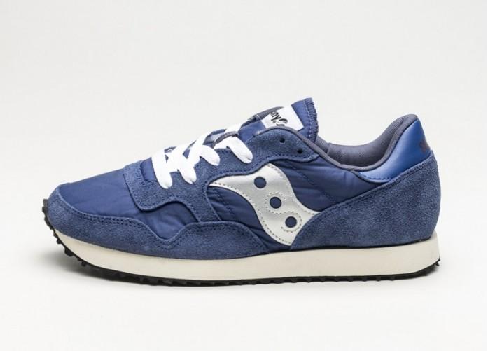 Женские кроссовки Saucony DXN Trainer Vintage (Navy / Silver) - Women - Sneaker | Интернет-магазин Sole