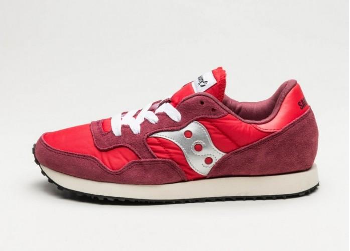 Женские кроссовки Saucony DXN Trainer Vintage (Red / Silver) - Women - Sneaker | Интернет-магазин Sole