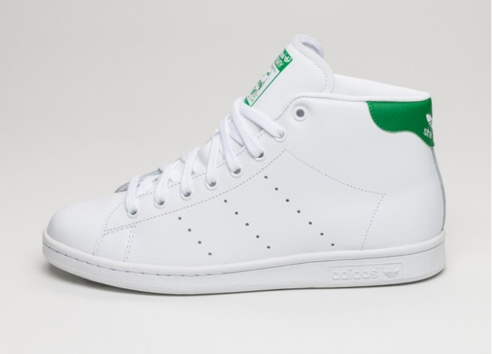 Мужские кроссовки adidas Stan Smith Mid (Ftwr White / Ftwr White / Green) | Интернет-магазин Sole
