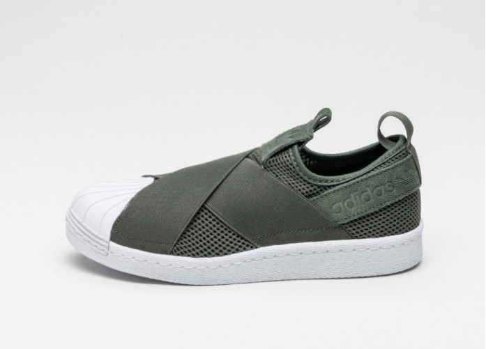 Женские кроссовки adidas Superstar Slip-On W (Shagreen / Shagreen / Ftwr White) | Интернет-магазин Sole