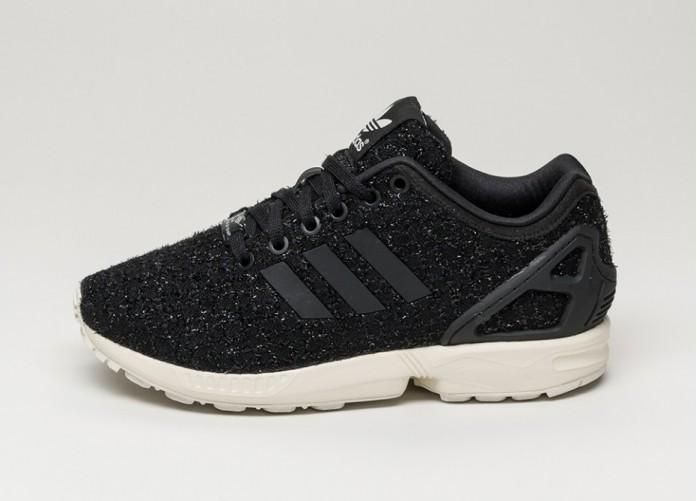 Женские кроссовки adidas ZX FLUX W (Core Black / Core Black / Ftw White) | Интернет-магазин Sole