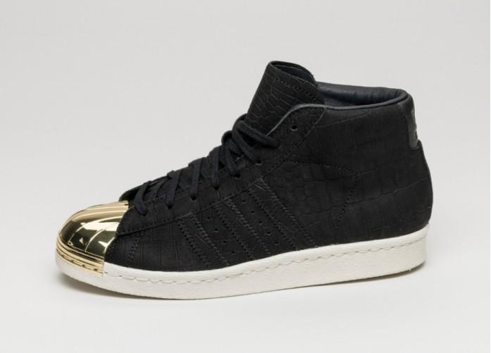 Женские кроссовки adidas Promodel Metal Toe W (Core Black / Core Black / Gold Metallic) | Интернет-магазин Sole