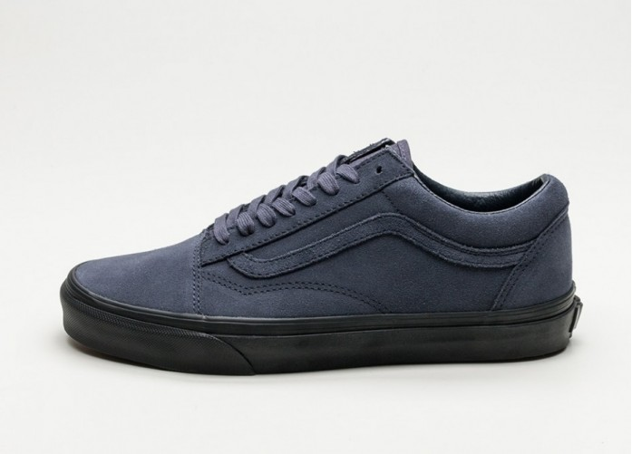Женские кроссовки Vans Old Skool *Suede* (Navy / Black) - Women - Sneaker | Интернет-магазин Sole