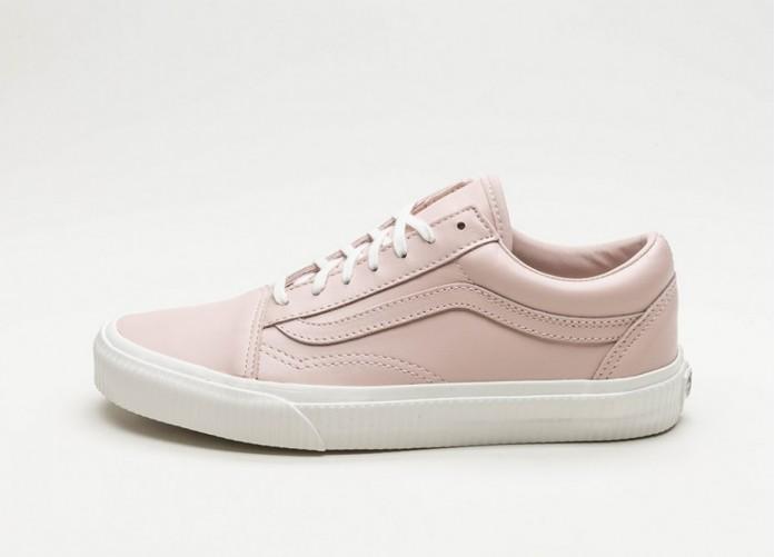Женские кроссовки Vans Old Skool *Embossed Sidewall* (Sepia Rose / Blanc De Blanc) - Women - Sneaker   Интернет-магазин Sole