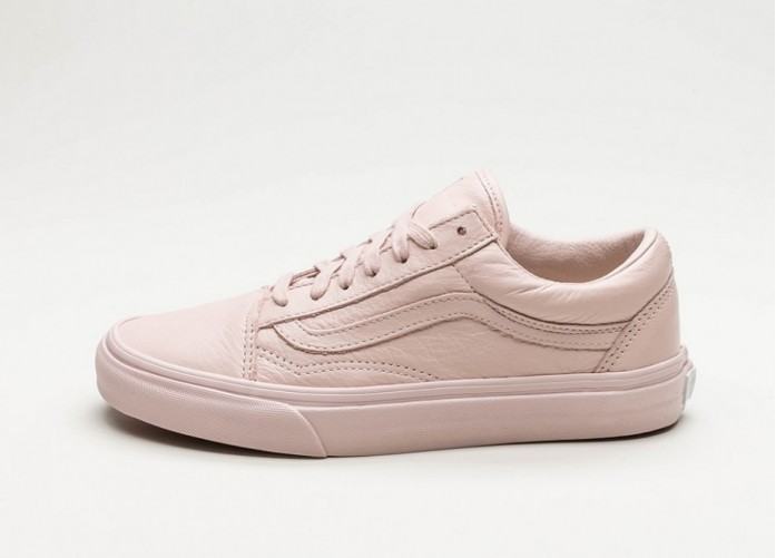 Женские кроссовки Vans Old Skool *Leather* (Mono / Sepia Rose) - Women - Sneaker | Интернет-магазин Sole