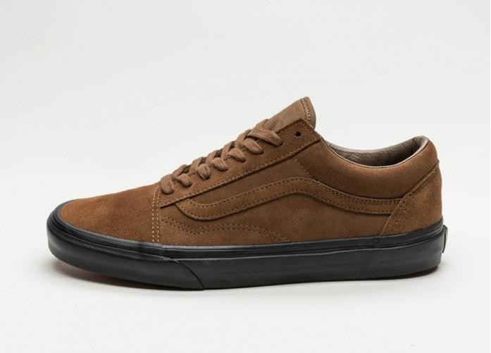 Женские кроссовки Vans Old Skool Reissue *Suede* (Teak / Black) - Women - Sneaker | Интернет-магазин Sole