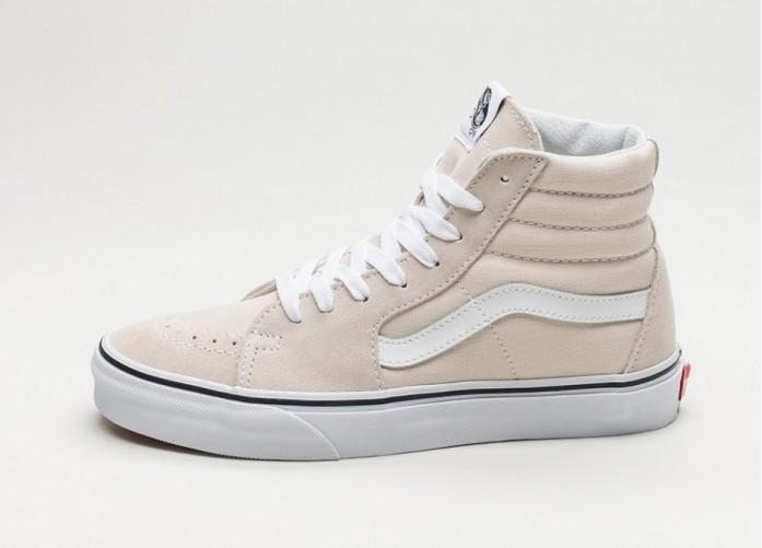 Женские кроссовки Vans SK8-Hi (Birch / True White) - Women - Sneaker | Интернет-магазин Sole