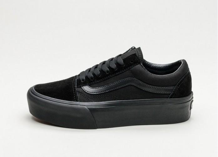 Женские кроссовки Vans Old Skool Platform (Black / Black) - Women - Sneaker | Интернет-магазин Sole