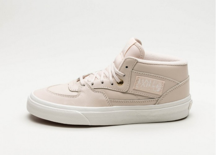 Женские кроссовки Vans Half Cab DX *Leather* (Whisper Pink / Gold) - Women - Sneaker | Интернет-магазин Sole