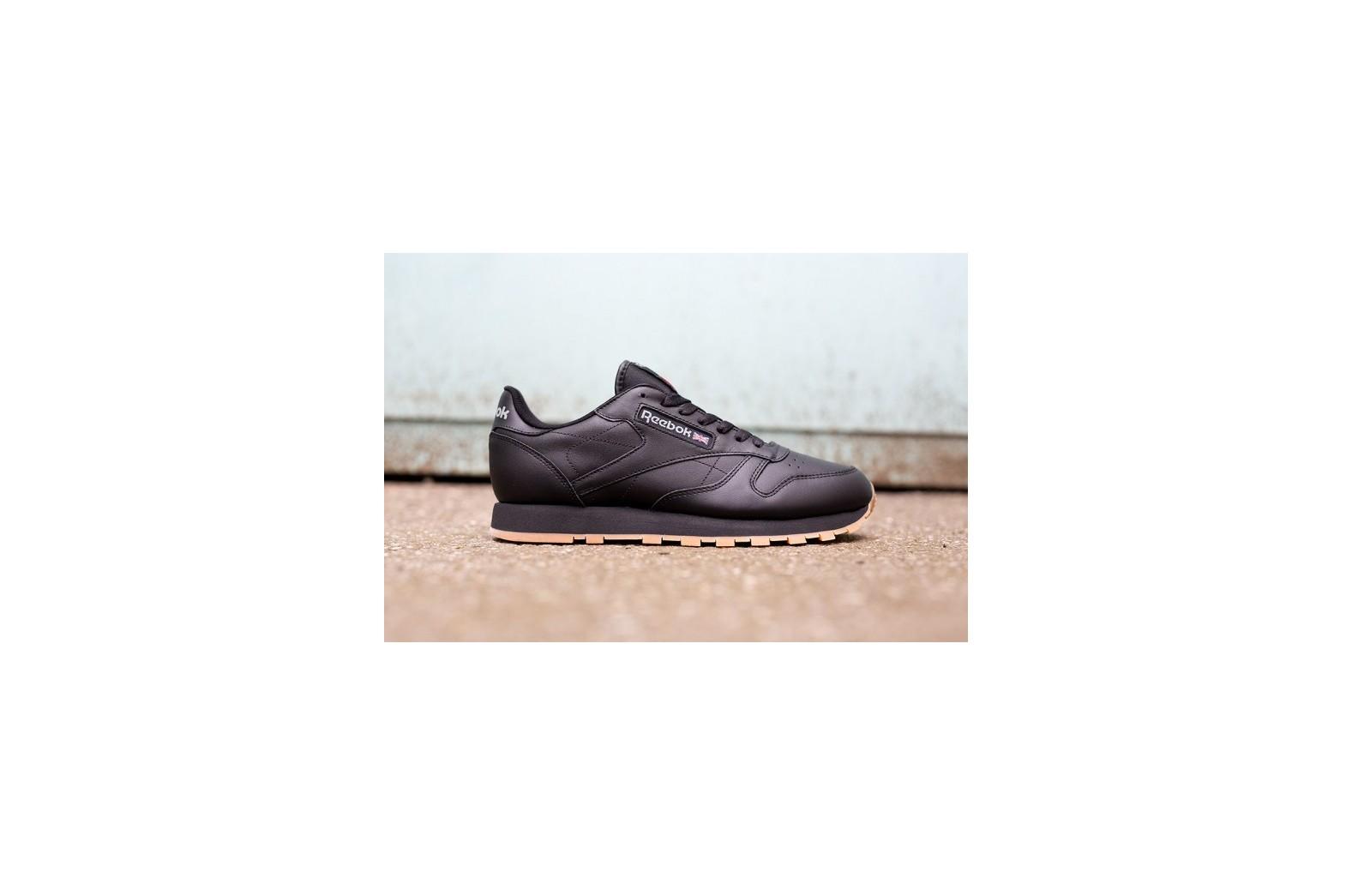 Мужские кроссовки Reebok Classic Leather - Black Gum   Интернет-магазин Sole a7244b40b7d