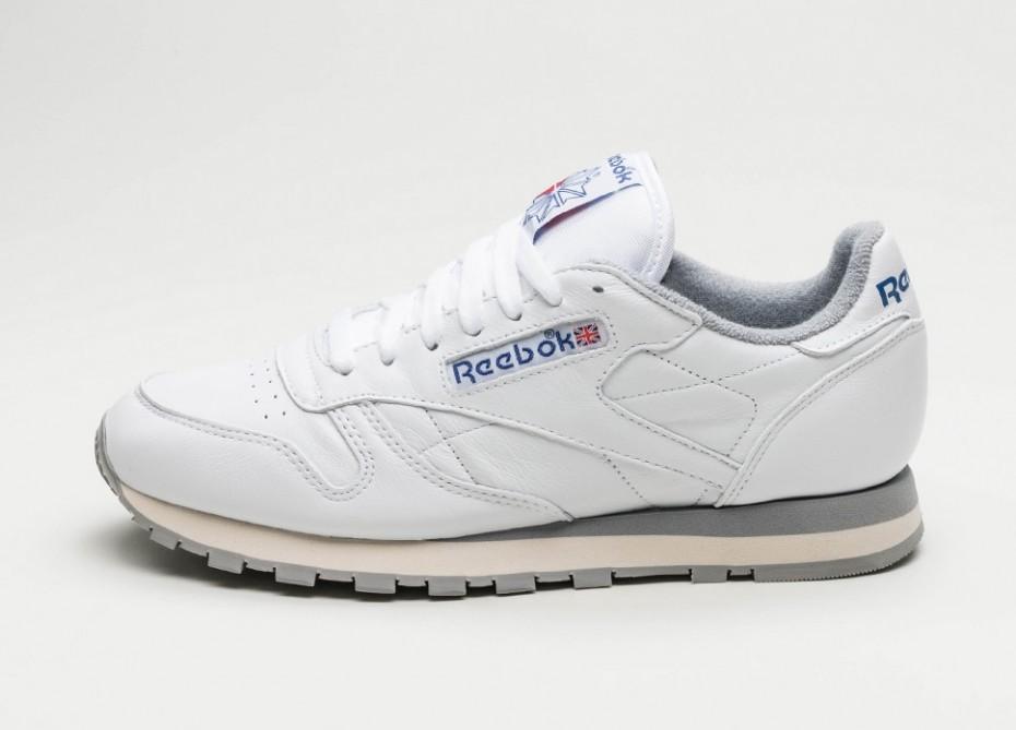 Мужские кроссовки Reebok Classic Leather R12 (White   Grey   Sand   Royal)  59e84e54e