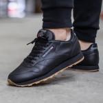 Мужские кроссовки Reebok Classic Leather - Black/Gum, фото 5 | Интернет-магазин Sole