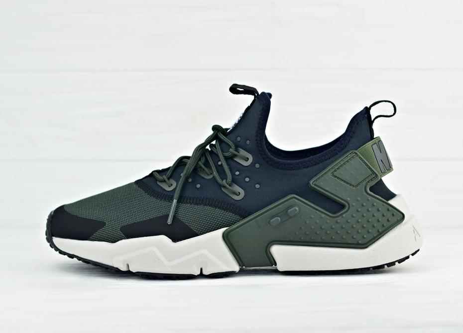 1a8682da Мужские кроссовки Nike Air Huarache Drift - Sequoia/Black/White/Light Bone