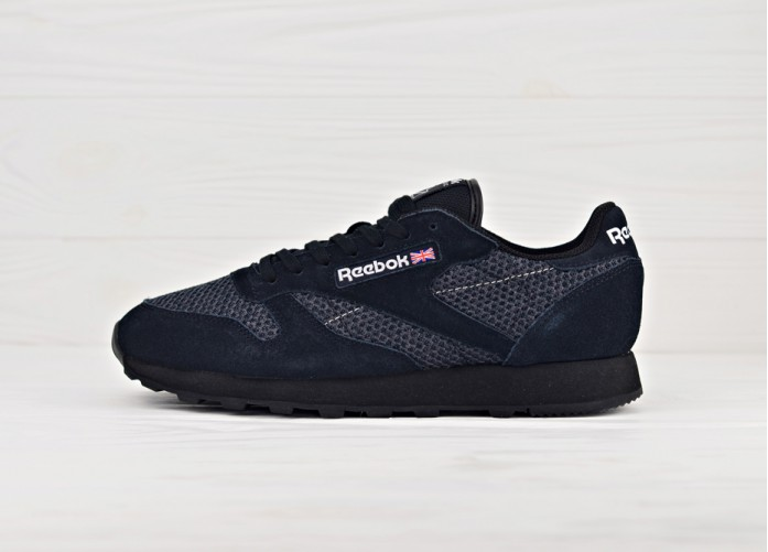 Мужские кроссовки Reebok Classic Leather Knit - Black/White | Интернет-магазин Sole