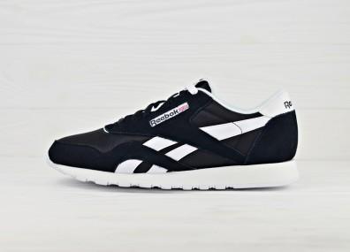 Мужские кроссовки Reebok Classic Nylon - Black / White