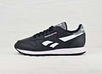 Кроссовки Reebok Classic Leather Pop - Black/White