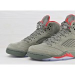 Nike Air Jordan 5 Retro Camo - Dark Stucco / University Red - River Rock, фото 3 | Интернет-магазин Sole