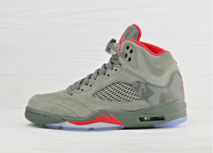 Nike Air Jordan 5 Retro Camo - Dark Stucco / University Red - River Rock | Интернет-магазин Sole