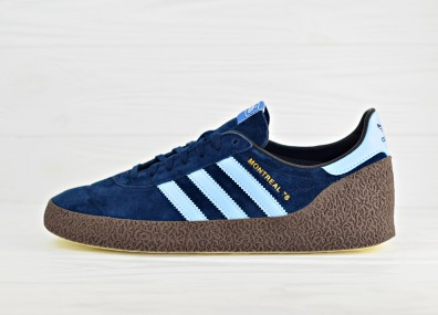 Мужские кроссовки adidas Originals Montreal 76 - Collegiate Navy/Clear Sky/Gold Metallic