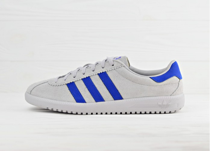 Мужские кроссовки adidas Originals Bermuda - Grey/Bold Blue | Интернет-магазин Sole