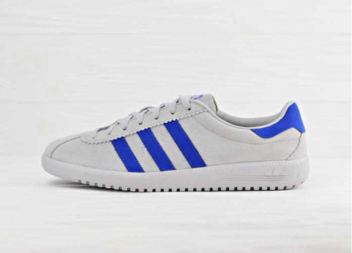 Кроссовки adidas Originals Bermuda - Grey/Bold Blue | Интернет-магазин Sole