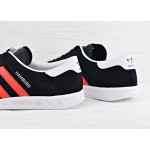 Мужские кроссовки adidas Originals Hamburg - Core Black/Red/Running White, фото 4 | Интернет-магазин Sole