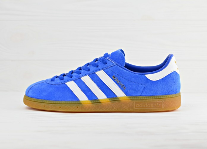 Мужские кроссовки adidas Originals Munchen - Blue/Footwear White/Gum | Интернет-магазин Sole