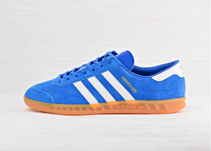 Мужские кроссовки adidas Originals Hamburg - Bluebird/Footwear White/Gum | Интернет-магазин Sole