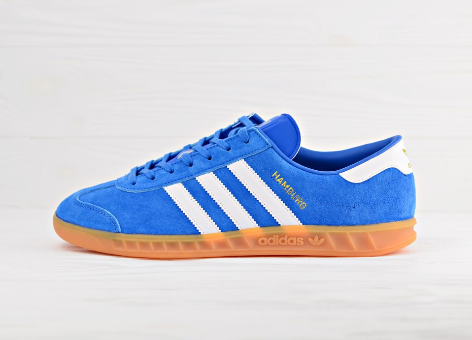 a1fa16f3 Мужские кроссовки adidas Originals Hamburg - Bluebird/Footwear White/Gum |  Интернет-магазин