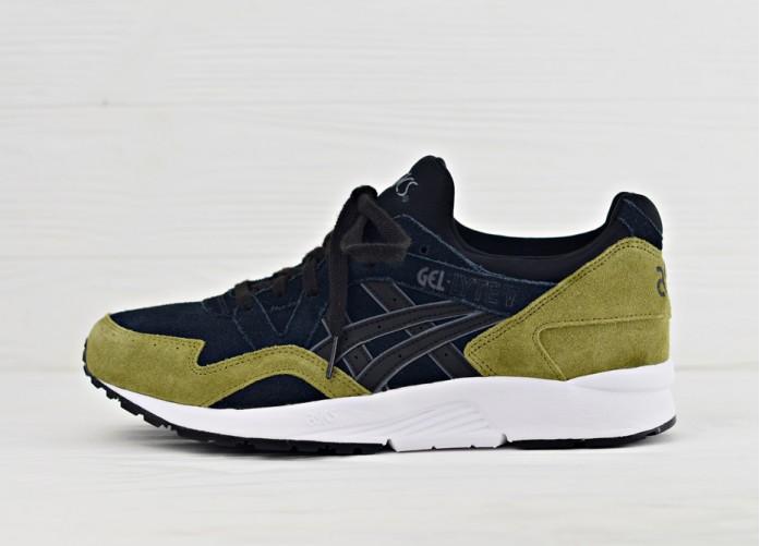Мужские кроссовки Asics Gel Lyte V - Black/Black/Olive | Интернет-магазин Sole