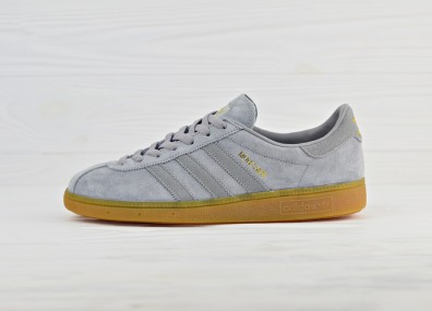 adidas Originals Munchen - Heather Solid Grey/Solid Grey/Gum