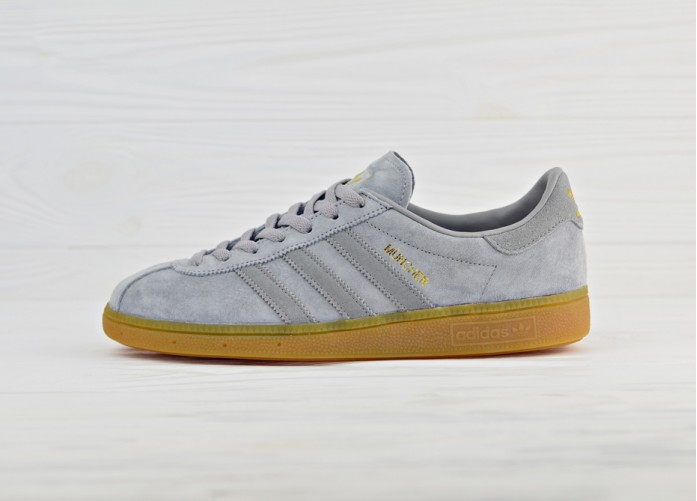 adidas Originals Munchen - Heather Solid Grey/Solid Grey/Gum | Интернет-магазин Sole