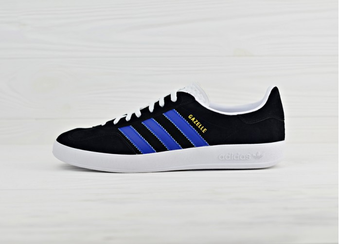 Кроссовки Adidas Originals Gazelle Indoor - Black/White/Navy | Интернет-магазин Sole