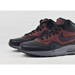 Мужские кроссовки Nike Air Max 1 Mid Deluxe QS - Black/Black-Barkroot Brown, фото 3 | Интернет-магазин Sole