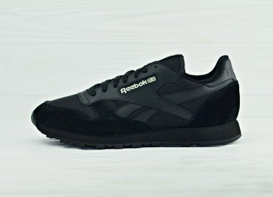 Кроссовки Reebok Classic Leather Glow in the Dark - Black