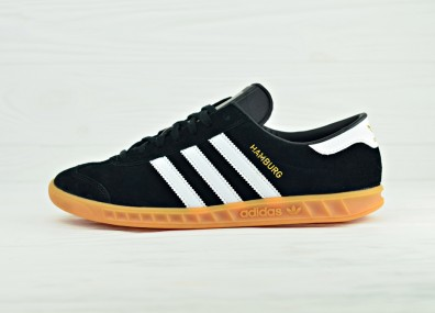 Мужские кроссовки adidas Originals Hamburg - Core Black/Footwear White/Gum