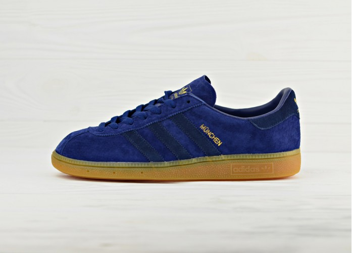 Кроссовки adidas Originals Munchen - Dark Blue/Navy/Gum | Интернет-магазин Sole