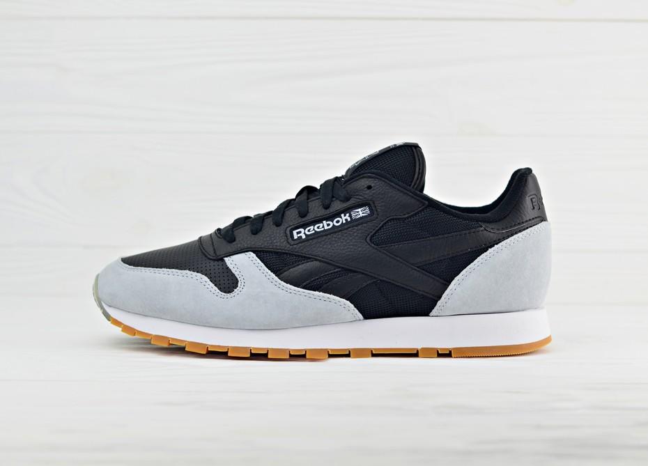 a5a26791 Мужские кроссовки Reebok x Kendrick Lamar Classic Leather - Black/Cloud Grey/Gum