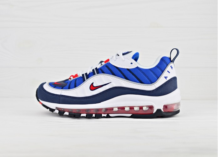 "Женские кроссовки Nike WMNS Air Max 98 OG ""Gundam"" - White / Red / Navy 