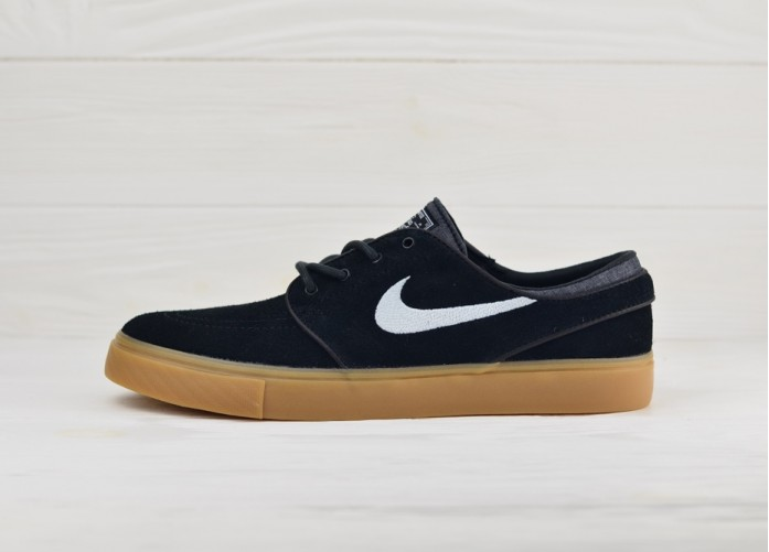 Nike Zoom Stefan Janoski - Black/White-Gum Light Brown | Интернет-магазин Sole